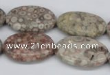 CMB17 15.5 inches 20*30mm oval natural medical stone beads