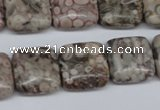 CMB20 15.5 inches 16*16mm square natural medical stone beads