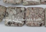 CMB23 15.5 inches 25*25mm square natural medical stone beads