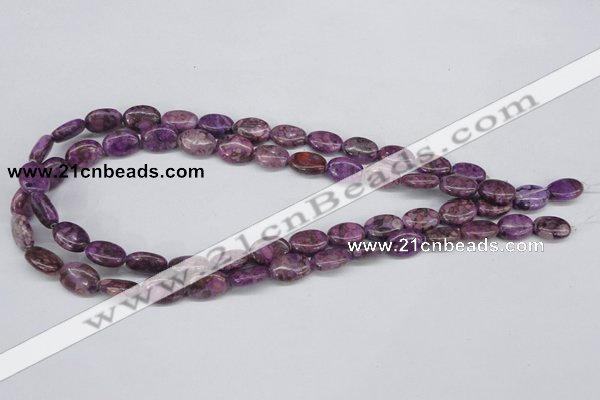 CMB35 15.5 inches 10*14mm oval dyed natural medical stone beads