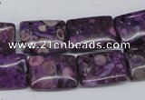 CMB40 15.5 inches 13*18mm rectangle dyed natural medical stone beads