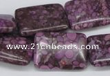 CMB41 15.5 inches 18*25mm rectangle dyed natural medical stone beads