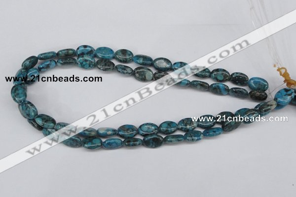 CMB46 15.5 inches 10*14mm oval dyed natural medical stone beads