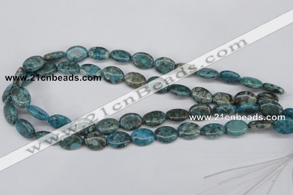 CMB47 15.5 inches 12*16mm oval dyed natural medical stone beads
