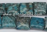 CMB52 15.5 inches 16*16mm square dyed natural medical stone beads