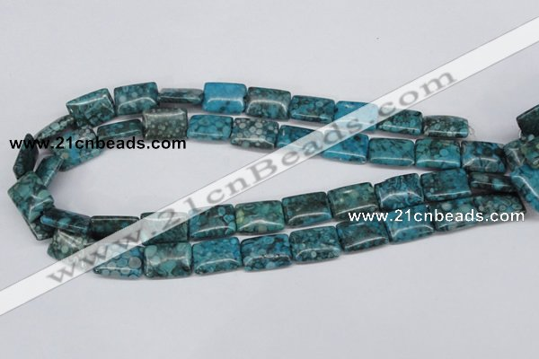 CMB57 15.5 inches 13*18mm rectangle dyed natural medical stone beads