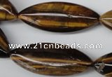 CME03 15.5 inches 15*40mm marquise yellow tiger eye stone beads