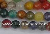 CME101 15.5 inches 6mm faceted round mixed gemstone beads