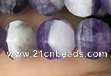 CME209 15.5 inches 7*9mm - 8*10mm pumpkin dogtooth amethyst beads
