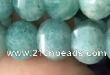 CME211 15.5 inches 7*9mm - 8*10mm pumpkin amazonite beads