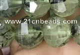 CME236 15.5 inches 10*11mm - 10*12mm pumpkin prehnite beads