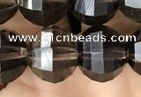 CME242 15.5 inches 10*11mm - 10*12mm pumpkin smoky quartz beads