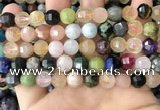 CME254 15.5 inches 7*9mm - 8*10mm pumpkin mixed gemstone beads