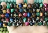 CME256 15.5 inches 7*9mm - 8*10mm pumpkin mixed tiger eye beads