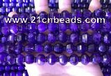 CME317 15.5 inches 8*10mm pumpkin amethyst gemstone beads