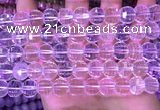 CME321 15.5 inches 9*11mm - 10*12mm pumpkin white crystal beads