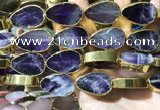 CME508 12 inches 18*28mm - 20*30mm flat teardrop amethyst beads