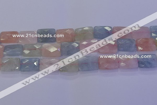CMG280 15.5 inches 13*18mm faceted rectangle morganite beads