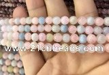 CMG336 15.5 inches 6mm round natural morganite beads