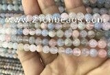 CMG341 15.5 inches 6mm round natural morganite beads