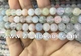 CMG342 15.5 inches 8mm round natural morganite beads