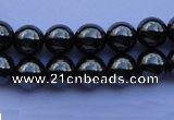CMH07 16 inches 4mm round magnetic hematite beads Wholesale