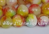 CMJ1061 15.5 inches 8mm round jade beads wholesale