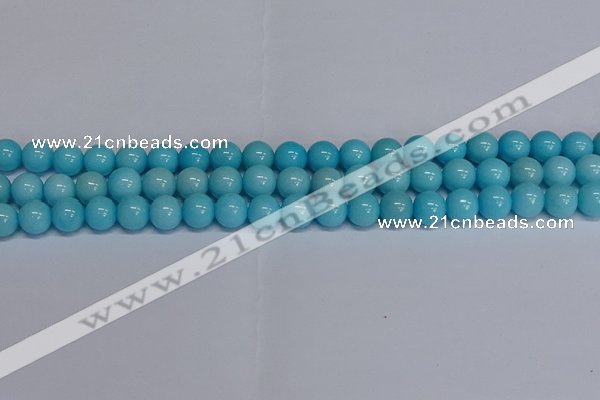 CMJ277 15.5 inches 10mm round Mashan jade beads wholesale