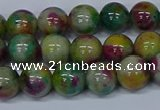 CMJ416 15.5 inches 8mm round rainbow jade beads wholesale
