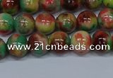 CMJ423 15.5 inches 8mm round rainbow jade beads wholesale