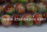 CMJ425 15.5 inches 12mm round rainbow jade beads wholesale