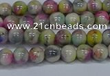 CMJ436 15.5 inches 6mm round rainbow jade beads wholesale