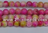 CMJ512 15.5 inches 4mm round rainbow jade beads wholesale