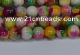 CMJ590 15.5 inches 6mm round rainbow jade beads wholesale