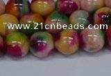 CMJ592 15.5 inches 10mm round rainbow jade beads wholesale