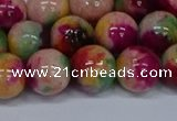 CMJ593 15.5 inches 12mm round rainbow jade beads wholesale