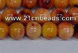 CMJ648 15.5 inches 10mm round rainbow jade beads wholesale