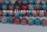 CMJ660 15.5 inches 6mm round rainbow jade beads wholesale