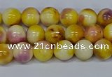 CMJ696 15.5 inches 8mm round rainbow jade beads wholesale