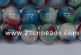 CMJ733 15.5 inches 12mm round rainbow jade beads wholesale