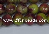 CMJ747 15.5 inches 12mm round rainbow jade beads wholesale