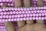 CMJ811 15.5 inches 6mm round matte Mashan jade beads wholesale