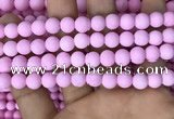 CMJ812 15.5 inches 8mm round matte Mashan jade beads wholesale