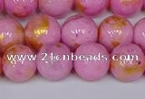CMJ917 15.5 inches 8mm round Mashan jade beads wholesale