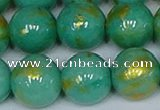 CMJ974 15.5 inches 12mm round Mashan jade beads wholesale