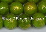 CMJ989 15.5 inches 12mm round Mashan jade beads wholesale