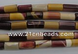 CMK104 15.5 inches 6*11mm tube mookaite beads wholesale