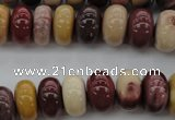 CMK118 15.5 inches 9*14mm rondelle mookaite beads wholesale