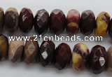 CMK121 15.5 inches 7*10mm faceted rondelle mookaite beads wholesale