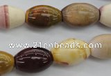 CMK128 15.5 inches 13*18mm rice mookaite beads wholesale
